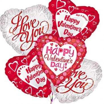 Valentine's Balloon Bunch