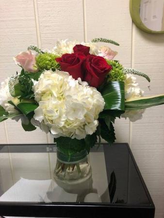 Valentines Bay Breeze Vase Arrangement
