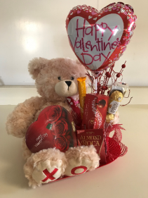 Valentine's Bear & Candy Holiday Gift