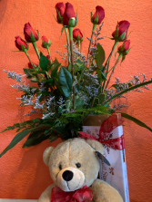Valentine's Best Roses, Candy and Bear