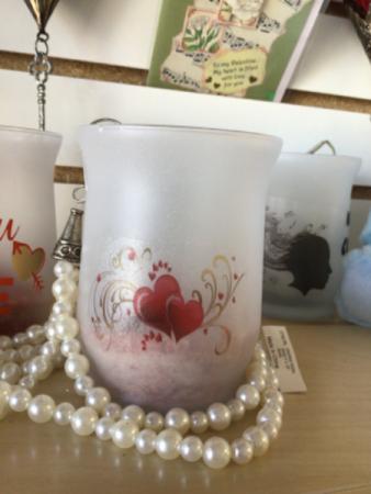 Valentine's candle holder