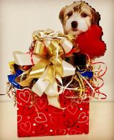 Her Valentine's Basket Sweet N' Salt Snacks & Spa Products