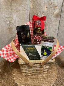 Date night picnic basket gourmet items