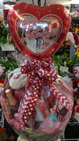 Valentine's Day Balloon Basket Spa & Gift