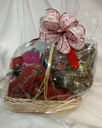 Valentine's Day Basket Basket Arrangement