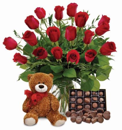 Valentines Day Bundle Vase