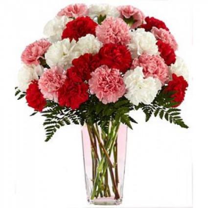 Valentine's Day Carnations Arrangement