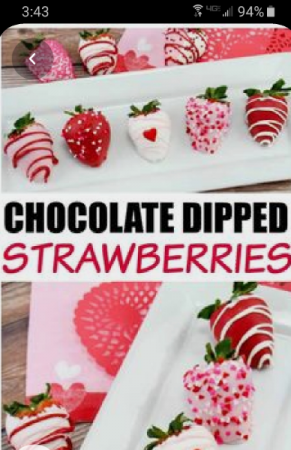 Valentines Day Chocolate Dipped Strawberrys Chocolate Dipped Strawberry's