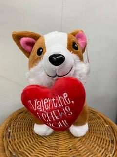 Valentine's Day Corgi Plush