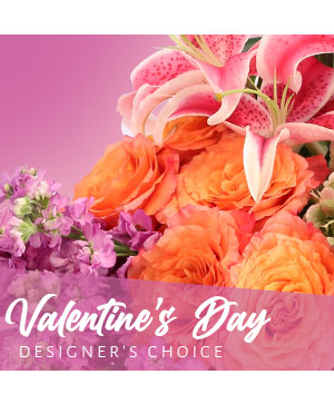Valentine's Day Designer's Choice in Hernando, MS | BUTTERFLIES FLORIST & Tuxedo Rentals