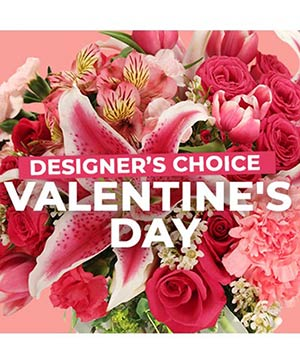 Valentine's Day Florals Designer's Choice in Stow, MA | STOW FLORIST/ONE MAIN ST STUDIO
