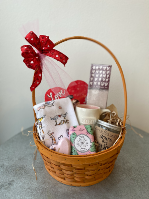 Valentine's Day Goodies Gift Basket in La Grande, OR | FITZGERALD FLOWERS