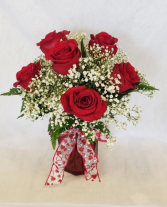 Valentine's Day Half Dozen Red Roses  Valentine's
