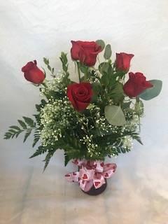 Valentine's Day Half Dozen Red Roses  Valentine's Day