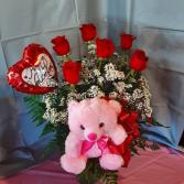 Valentine's Day Half Dozen Roses Special