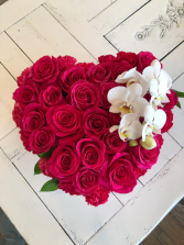 Valentine's Day Heart with Orchids