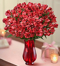 Valentines Day Peruvian Lily bouqet Lillies