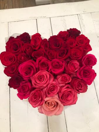 Valentine's Day Pink & Red Heart