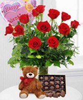 Valentine's Day Special Deal Vase combo