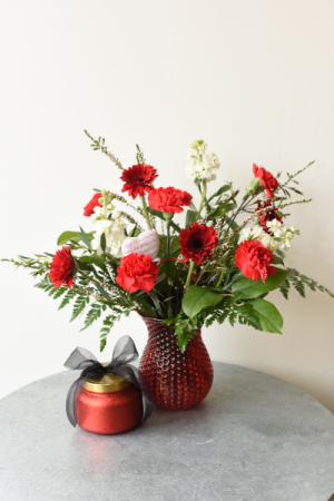 **Valentine's Day Special!** Volcano Candle and Bouquet in La Grande, OR | FITZGERALD FLOWERS
