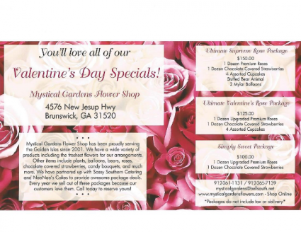 Valentine's day specials  Roses & Chocolate Covered Strawberries
