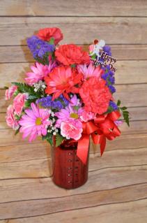 Valentine's Day Standard Mason Jar