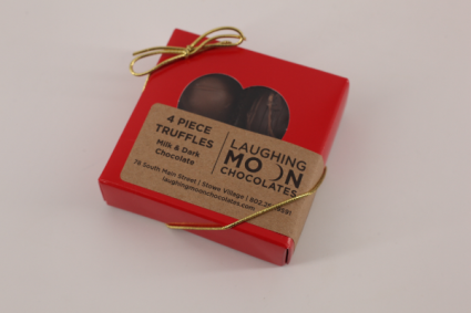 Small 4pc Truffles Laughing Moon Chocolates