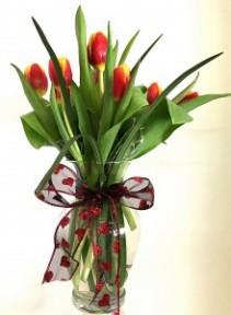 Valentine's Day Tulips Valentine Arrangement