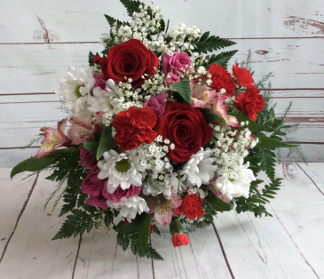 Valentine's Day Wrapped Bouquet Ready For Your Vase