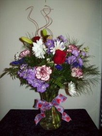 Valentine's Delight Vase Arrangement