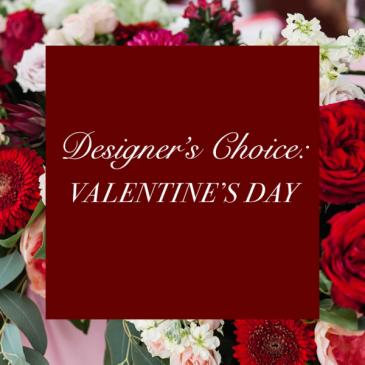 Valentines deluxe  fresh arrangement