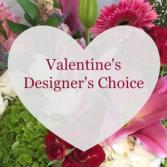Valentine's Designers Choice Fresh Flower Arrangement