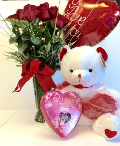 All 4 Love 9 Roses Chocolates Balloon Bear Greeting Card In Reno