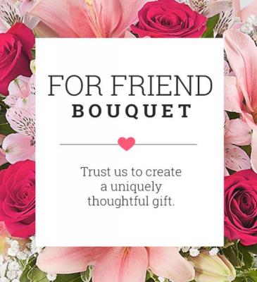 Valentines for friend bouquet