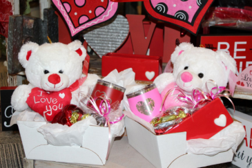 Valentines Gift & Candy Assortment Boxs Plush, Candy & Gift Assortment