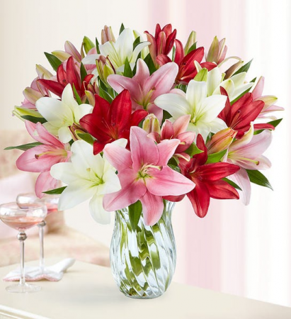Valentines  Lovely Lilies Bouquet