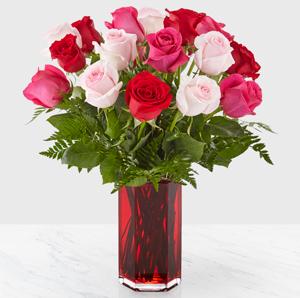 Valentine's Mix Mixed Rose Arrangement