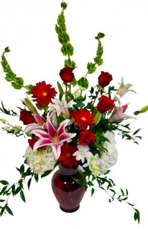Premium  Valentine's Mix Vase arrangement in Coral Springs, FL | Hearts & Flowers of Coral Springs