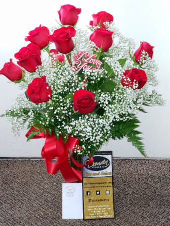 Rose Gift Plus    (local delivery only) Roses and Domain Gift Card