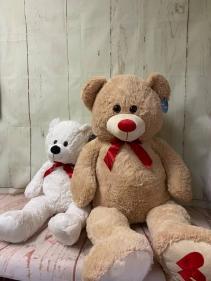 Valentine`s plush bear Staffed animal