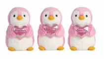 Valentines Plush Penguin Plush