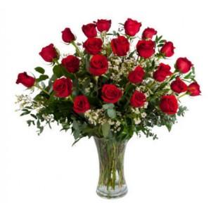 Valentines Rose Extravaganza   24 Red Roses