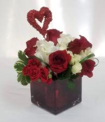 Valentine's Special Cube arrangement