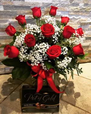 Valentine's Special Roses & Chocolate  in Calgary, AB | Petals 'N Blooms