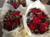 Valentines Sweetheart Wrap wrapped bouquet