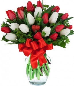 VALENTINE'S TULIPS ARRANGEMENT