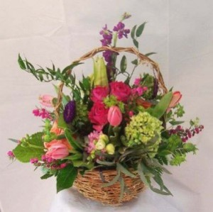 Valerie Basket Basket Arrangement in Brattleboro, VT | WINDHAM FLOWERS