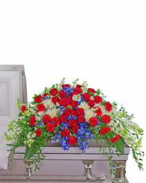 Valiant Honor Casket Spray Sympathy