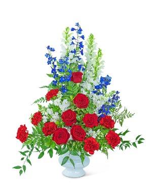 Valiant Urn Sympathy in Nevada, IA | Flower Bed