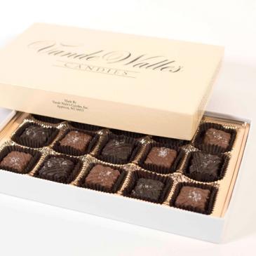 Vande Walle's 9 piece Sea Salt Carmels Chocolates